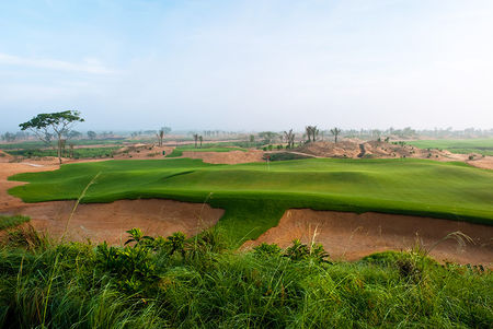 Overview of golf course named Shadow Dunes at Mission Hills Haikou