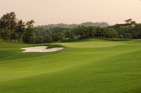 Overview of golf course named World Cup Course at Mission Hills Shenzhen