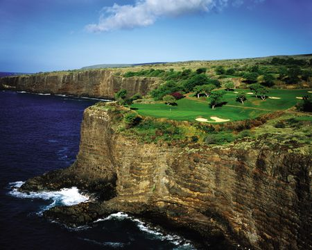 Overview of golf course named The Challenge at Manele