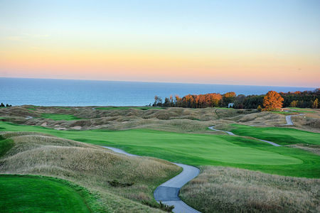 Overview of golf course named Arcadia Bluffs Golf Course