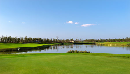 Overview of golf course named Woodland at Lan Hai International Golf Club