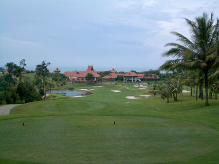 Overview of golf course named Bintan Lagoon
