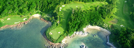 Overview of golf course named Ria Bintan (Ocean)