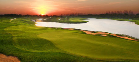 Overview of golf course named Lake Malaren Golf Club Shanghai