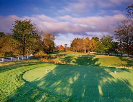 Overview of golf course named New Albany Country Club