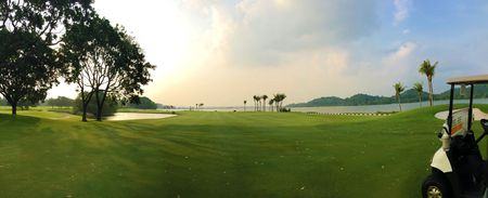 Overview of golf course named Raffles Country Club