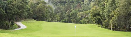 Overview of golf course named The Els Club Teluk Datai