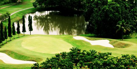 Overview of golf course named Rahman Putra Golf and Country Club