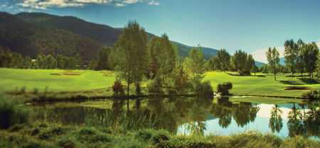Overview of golf course named Roaring Fork Club