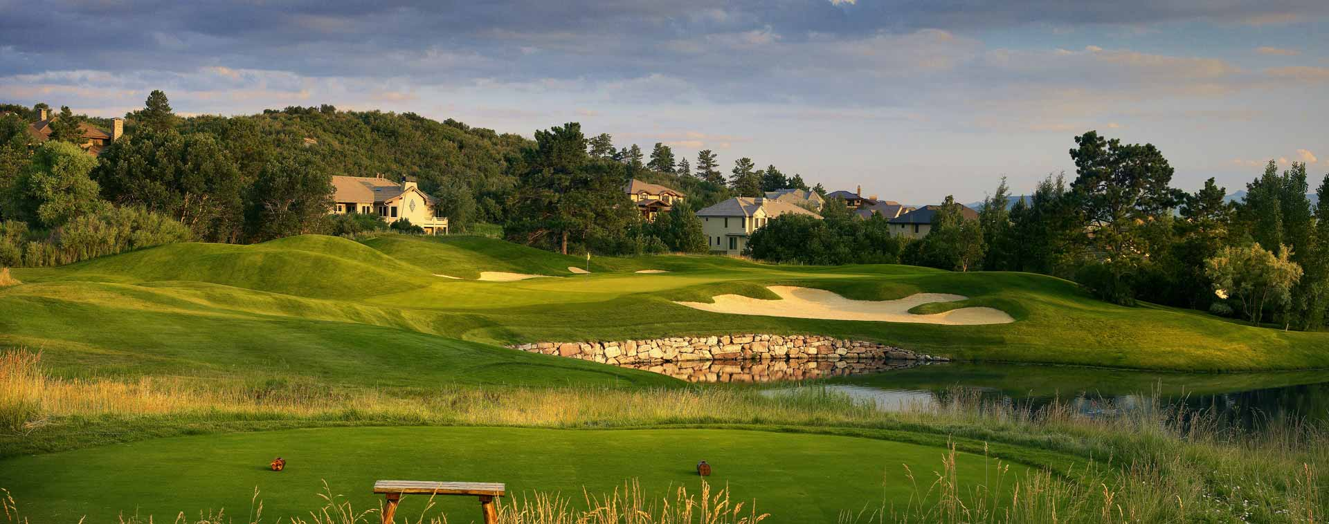 Overview of golf course named Country Club at Castle Pines