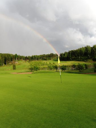 Overview of golf course named Aurinko Golf