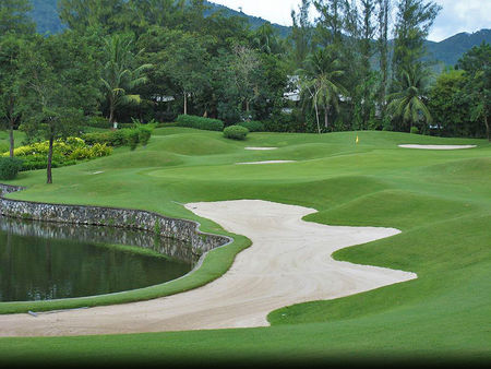 Overview of golf course named Phuket Country Club
