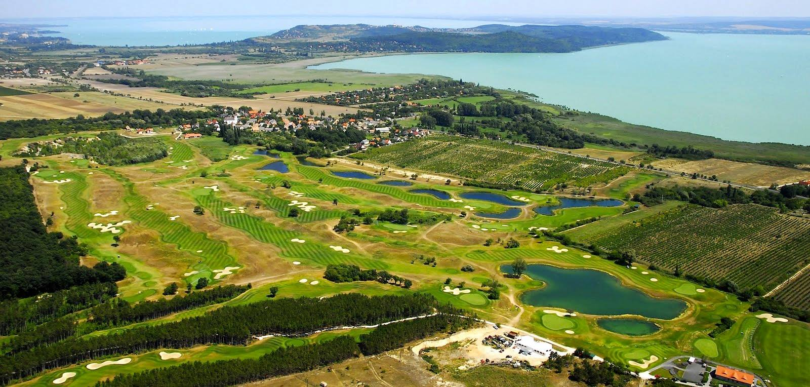 Overview of golf course named Royal Balaton Golf and Yacht Club