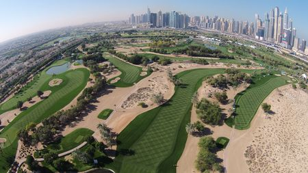 Overview of golf course named Faldo at Emirates Golf Club