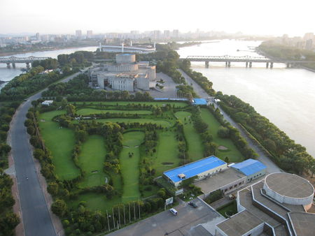Pyongyang golf course cover picture