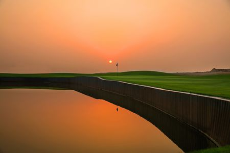 Overview of golf course named Al Zorah Golf Club