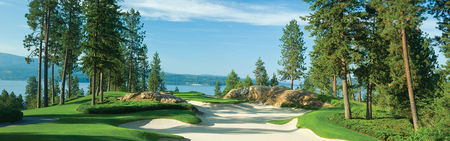 Overview of golf course named Coeur d'Alene Golf and Resort