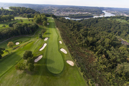 Overview of golf course named Longue Vue Club