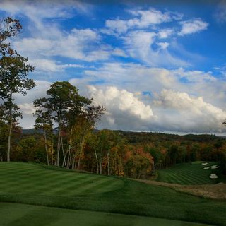 Mountain top golf course cover picture