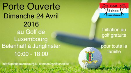 Cover of golf event named Porte Ouverte