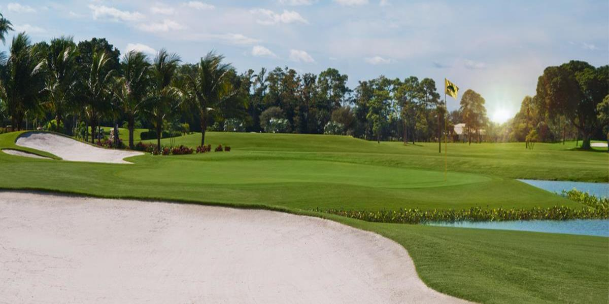Overview of golf course named Boca Woods Country Club