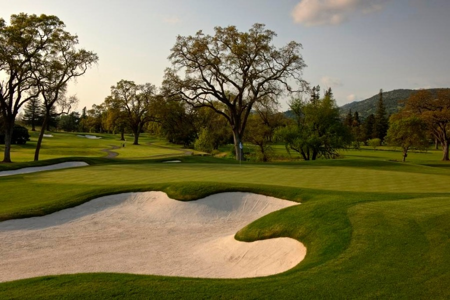 Overview of golf course named Silverado Golf and Country Club