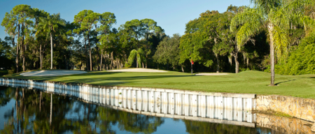 Overview of golf course named Woodlands Country Club