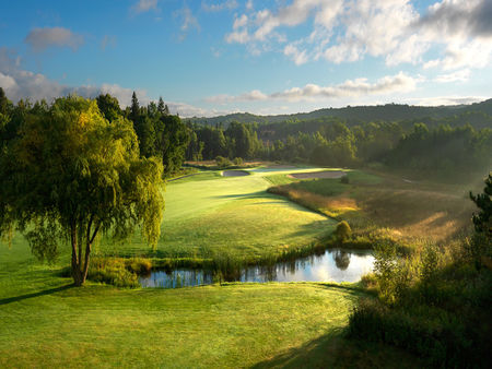 Overview of golf course named Moors Golf and Lodging, The