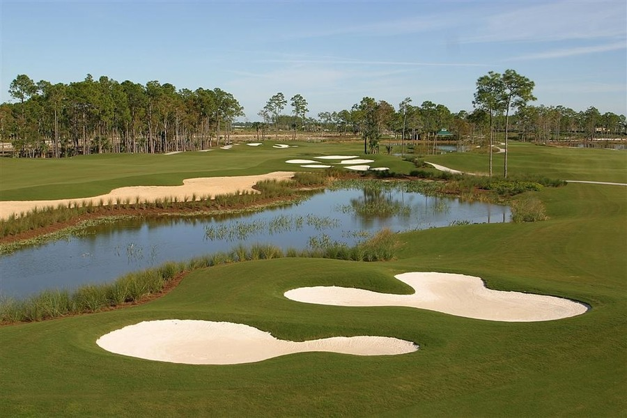 Overview of golf course named The Rookery at Marco