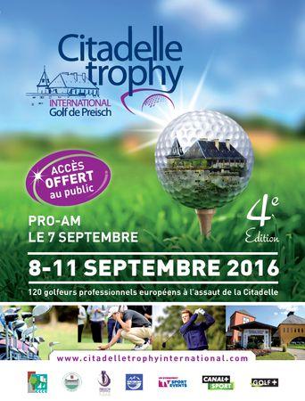 Citadelle Trophy International - Golf de Preisch 2016 Cover