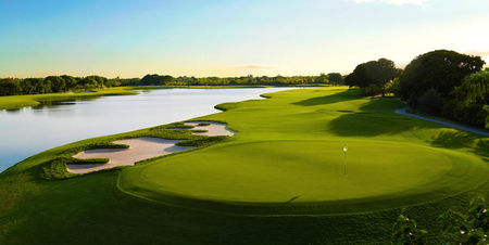 Overview of golf course named Trump National Doral Miami - The Golden Palm