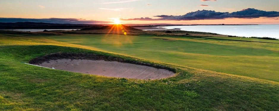 Bamburgh castle golf club cover picture