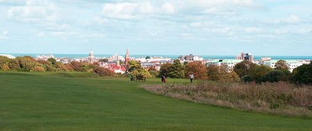 Overview of golf course named Royal Eastbourne Golf Club