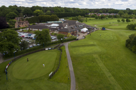 Overview of golf course named Dudsbury Golf Club