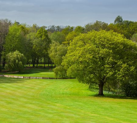 Overview of golf course named Meon Valley Hotel and Country Club