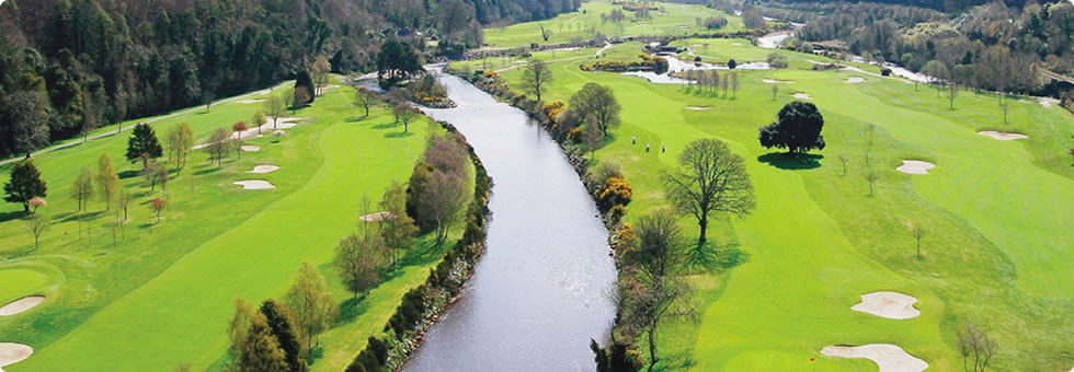 Overview of golf course named Woodenbridge Golf Club