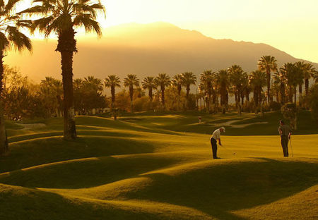 Overview of golf course named Marriott's Desert Springs Resort