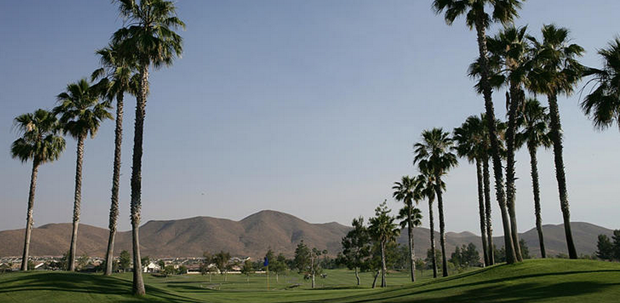 Overview of golf course named Menifee Lakes Country Club