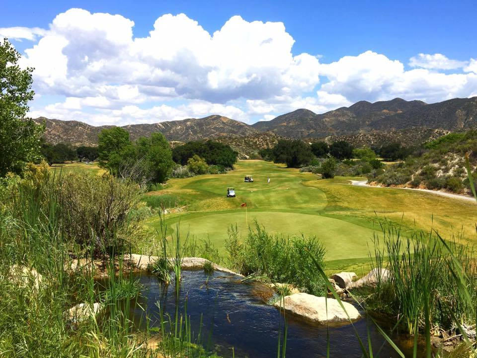 Overview of golf course named Robinson Ranch