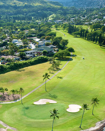 Overview of golf course named Mid-Pacific Country Club