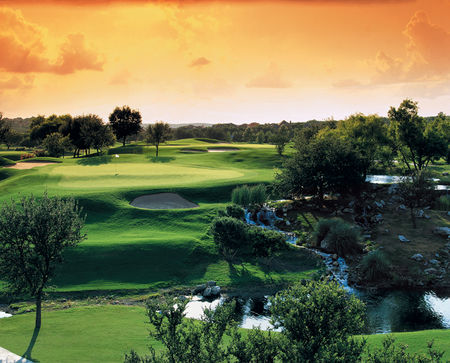 Overview of golf course named The Club at Sonterra