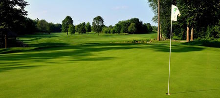 Overview of golf course named River Glen Country Club