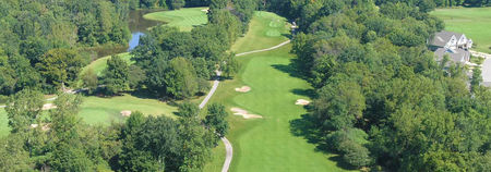 Overview of golf course named River Oaks Golf Club