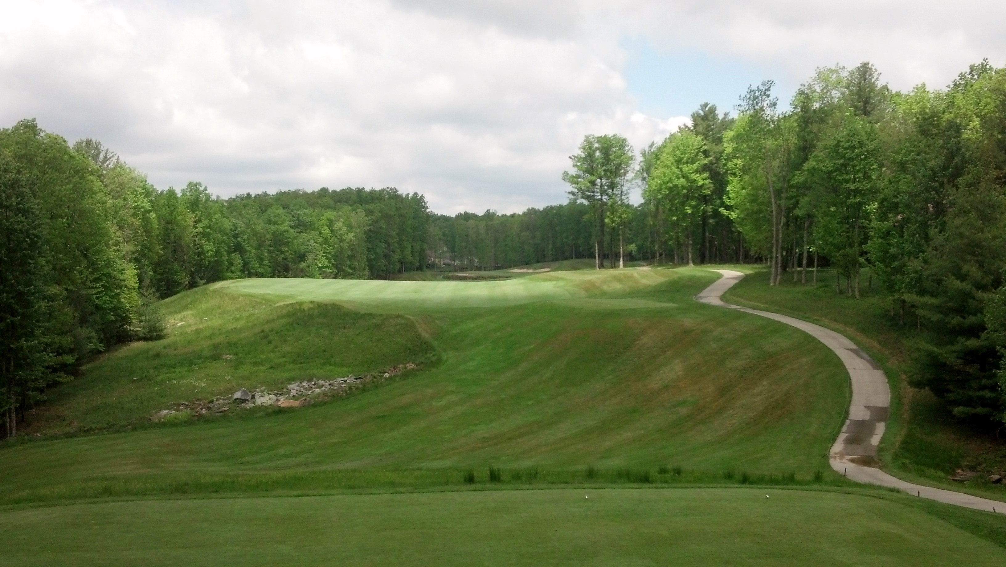 Overview of golf course named The Resort at Glade Springs