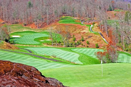 Waterfall golf club cover picture