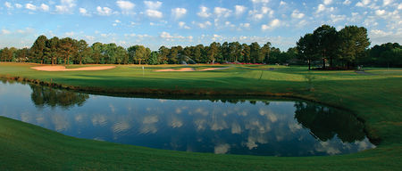 Overview of golf course named Flat Creek Golf Club