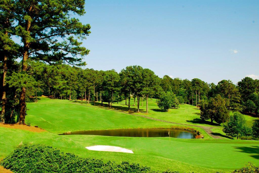 Overview of golf course named Green Island Country Club