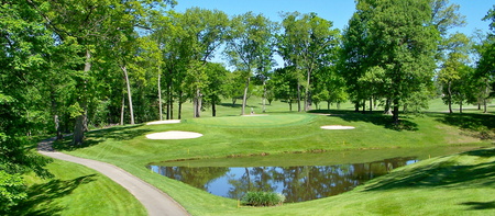 Overview of golf course named Nemacolin Country Club