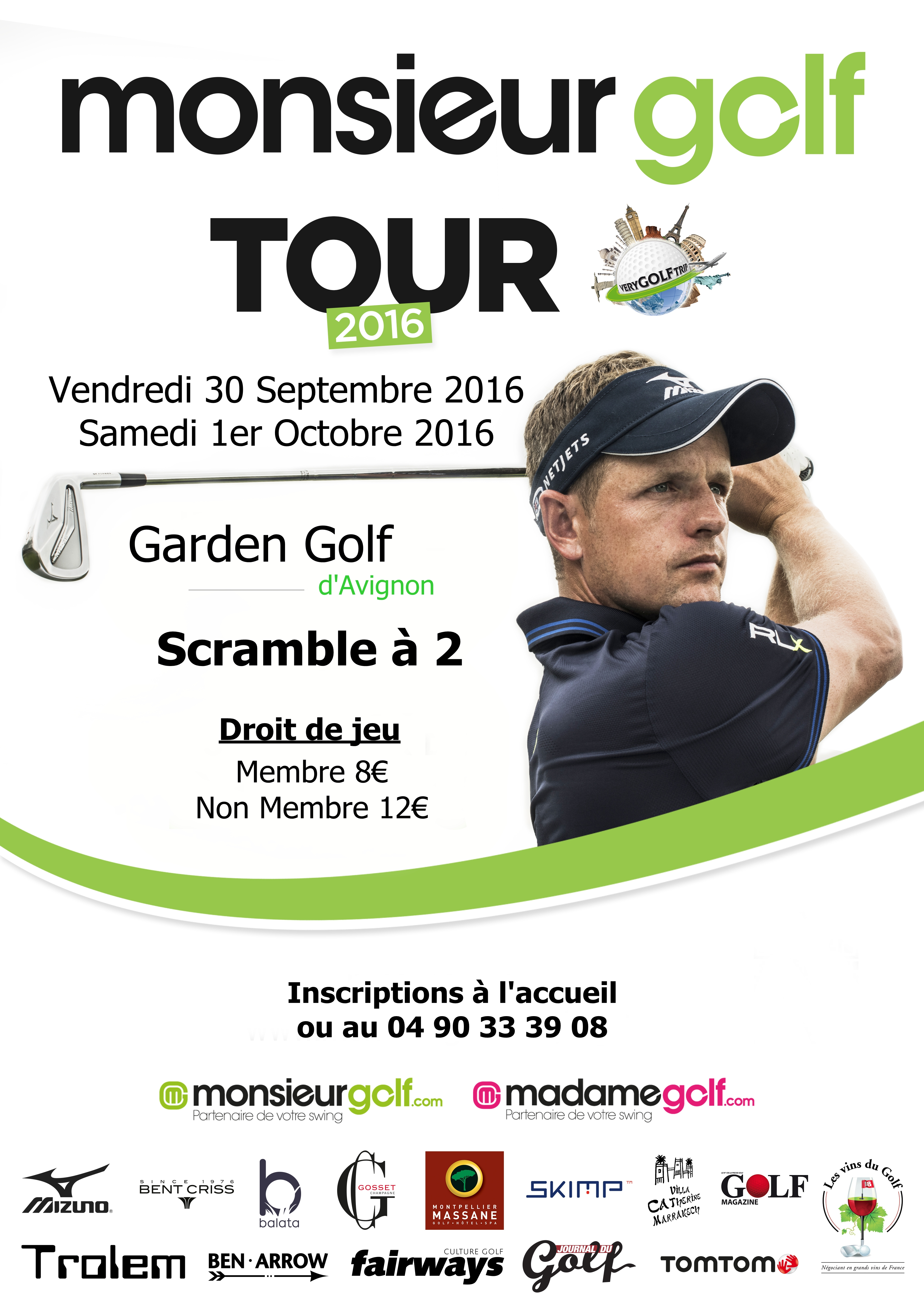 Cover of golf event named Monsieur Golf Tour