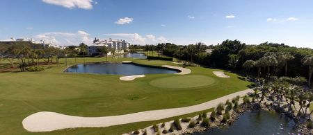 Overview of golf course named Hide Away Beach Club